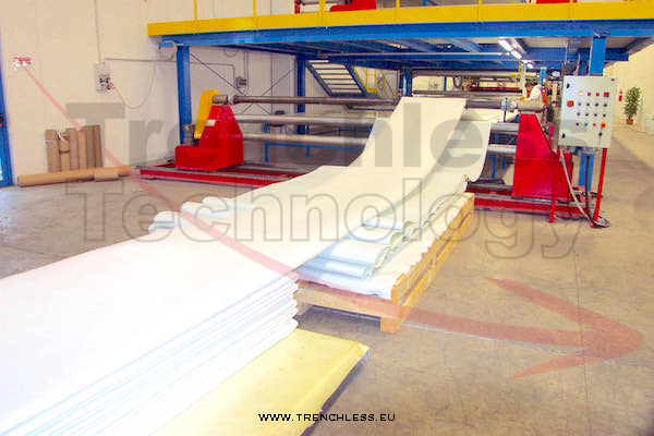 Studying the industrial process for CIPP products production - the felt assembling line.