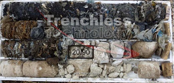 Example of a survey soil core.