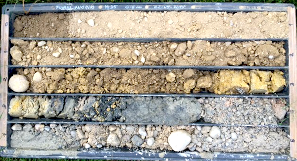 The soil was sand with coarse to very coarse gravel.